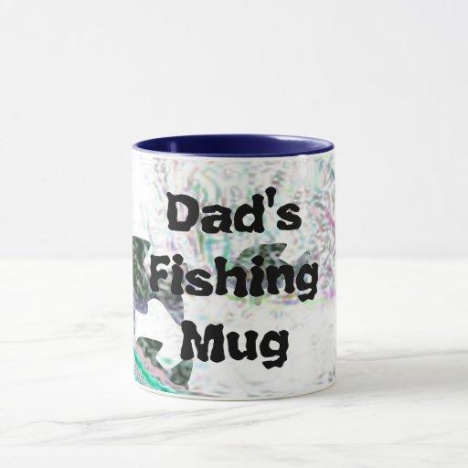 Taza de la pesca del papá