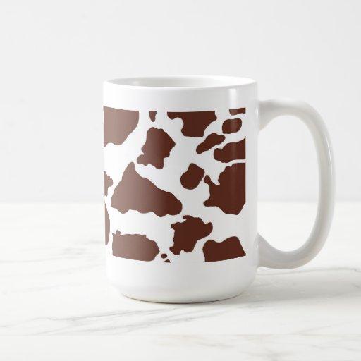 Taza de la piel de la vaca de Brown