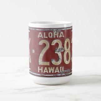 Taza de la placa de la hawaiana