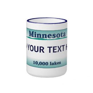 Taza de la placa de Minnesota