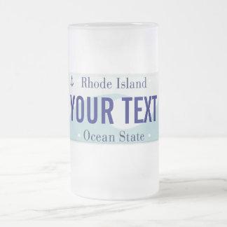 Taza de la placa de Rhode Island