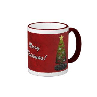 Taza de la plantilla de las Felices Navidad -