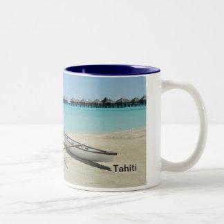Taza de la playa de Tahití Bora Bora