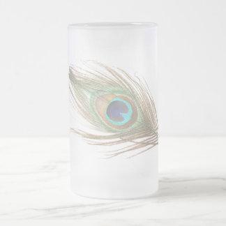 Taza de la pluma del pavo real