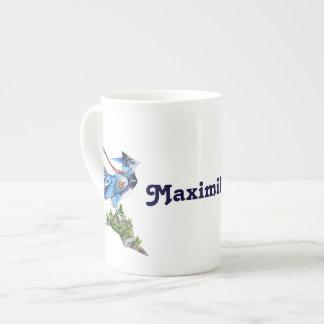 Taza de la porcelana de hueso de Feathyrkin Veeku