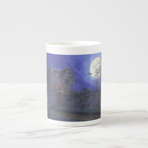 Taza de la porcelana de hueso de la casa encantada taza de china
