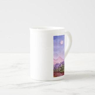 Taza de la porcelana de hueso de la granja de la l taza de porcelana
