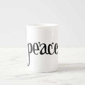 "Taza de la porcelana de hueso de la ""paz"" tazas de china"