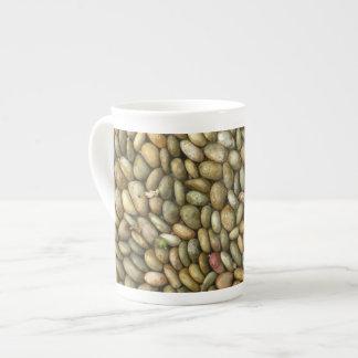 Taza de la porcelana de hueso de la textura de los tazas de porcelana