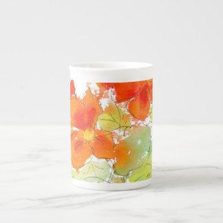 Taza de la porcelana de hueso de las capuchinas de tazas de china