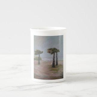 Taza de la porcelana de hueso de las PALMAS del HU Taza De Porcelana