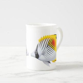 Taza de la porcelana de hueso de los Butterflyfish