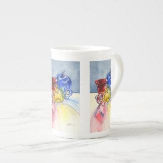 Taza de la porcelana de hueso de los colores prima taza de porcelana