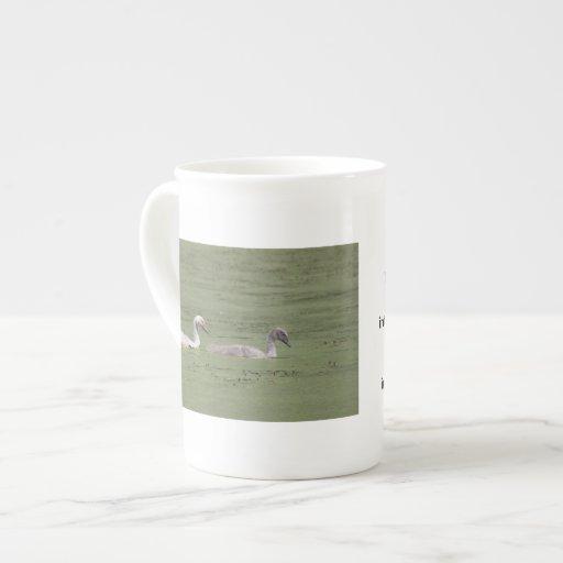 Taza de la porcelana de hueso de los zurdos de los tazas de china