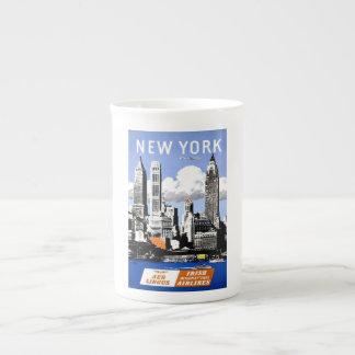 Taza de la porcelana de hueso de New York City Taza De Porcelana