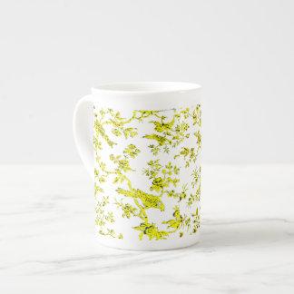 Taza de la porcelana de hueso de YellowBirdsOnWhit Taza De Porcelana