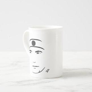 Taza de la porcelana de hueso de Yukio Mishima Taza De Porcelana