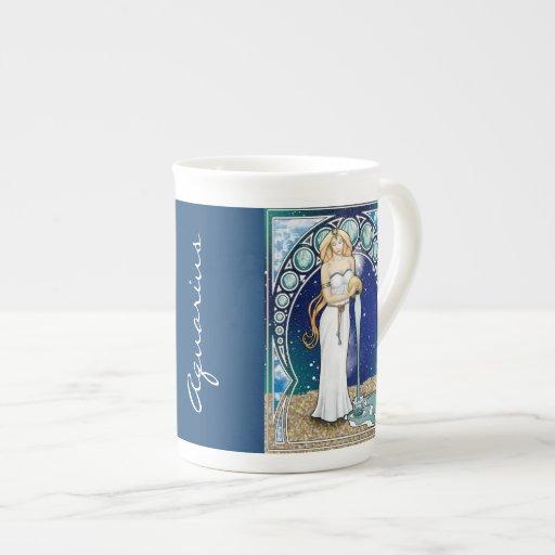 Taza de la porcelana de hueso del acuario de taza de porcelana