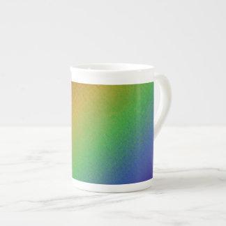 Taza de la porcelana de hueso del arco iris de Pix Taza De Porcelana