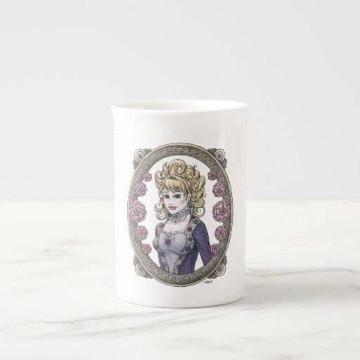 Taza de la porcelana de hueso del arte de la fanta tazas de china