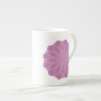 Taza de la porcelana de hueso del arte de la manda taza de porcelana