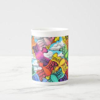 Taza de la porcelana de hueso del atasco tazas de porcelana