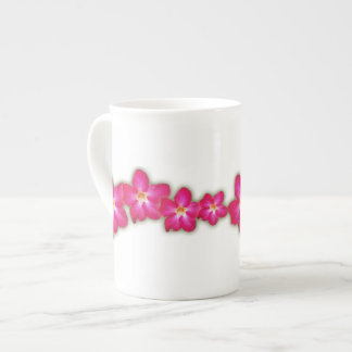 Taza de la porcelana de hueso del collage del rosa taza de porcelana