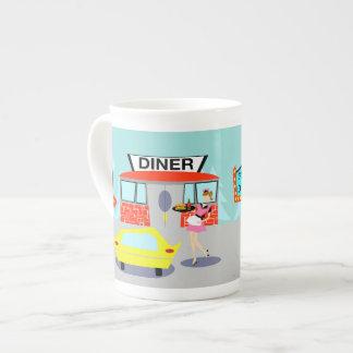 taza de la porcelana de hueso del comensal de los taza de porcelana