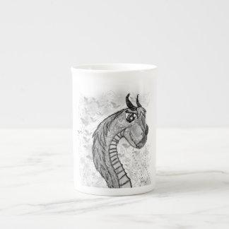 Taza de la porcelana de hueso del dragón tazas de china