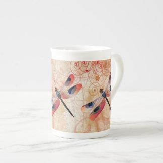Taza de la porcelana de hueso del Flourish de la l Taza De Porcelana