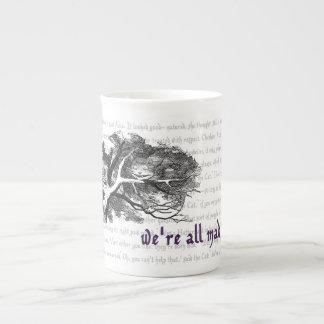 Taza de la porcelana de hueso del gato de Cheshire Taza De Porcelana