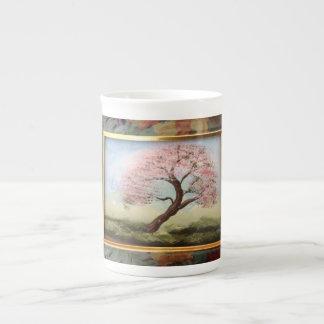 Taza de la porcelana de hueso en mi magnolia tazas de porcelana