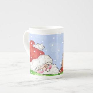 Taza de la porcelana de Santa y de Rudolf Taza De Porcelana