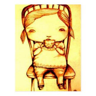 Taza de la postal de la abuela del té @, por Lyn H