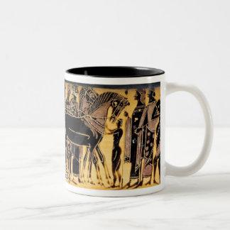 Taza de la procesión del boda de Peleus y de Theti