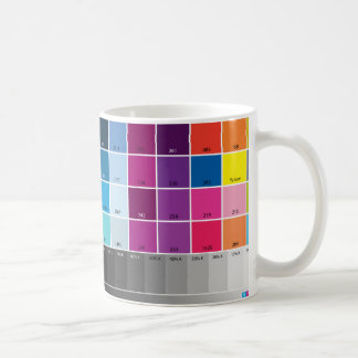 Taza de la prueba de color