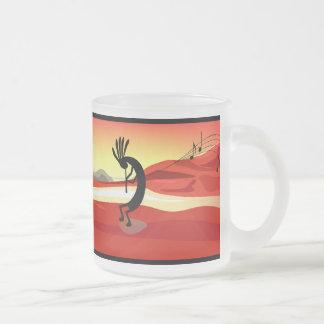 Taza de la puesta del sol de Kokopelli