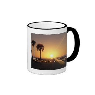 Taza de la puesta del sol de la Florida