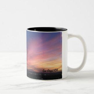 Taza de la puesta del sol de San Diego