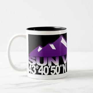 Taza de la púrpura de GPS de la montaña de Sun