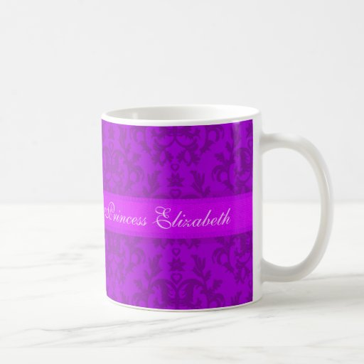 """Taza de la púrpura del damasco de """"princesa Elizab"""