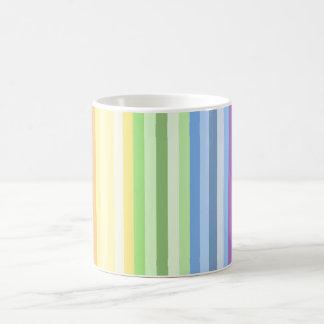 Taza de la raya del arco iris