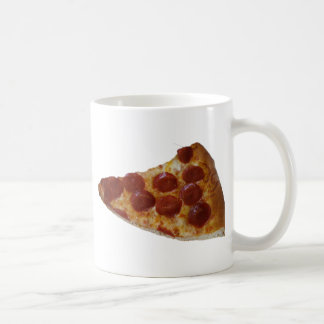 Taza de la rebanada de la pizza de salchichones
