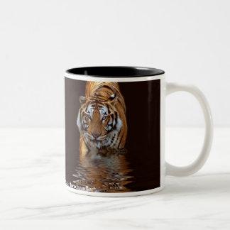 Taza de la reflexión del tigre