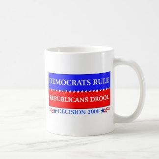 taza de la regla de los demócratas