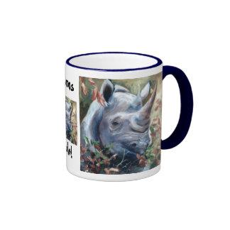 Taza de la regla de los Rhinos del rinoceronte
