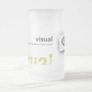 Taza de la representación visual de la sustancia