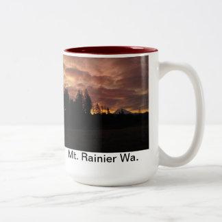 Taza de la salida del sol del Monte Rainier