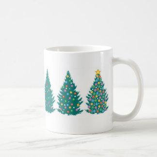 Taza de la secuencia del árbol de navidad