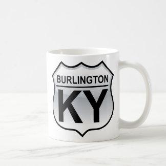 Taza de la señal de tráfico de Burlington Kentucky
